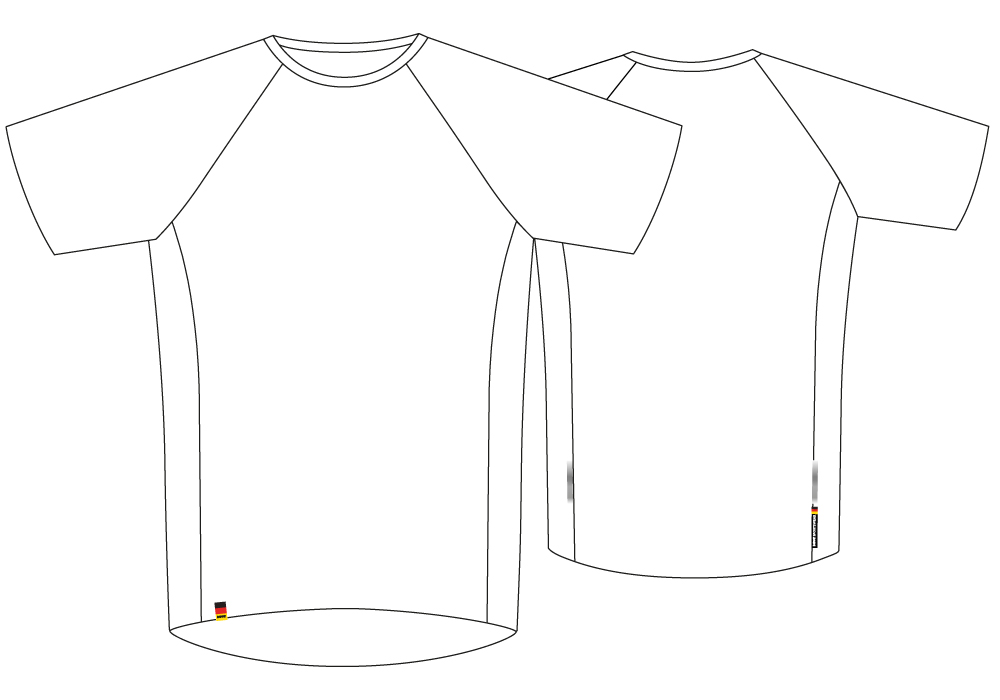 Functional (Running) Shirts sectional view