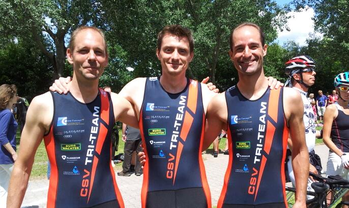 CSV Tri-Team - drei Athleten