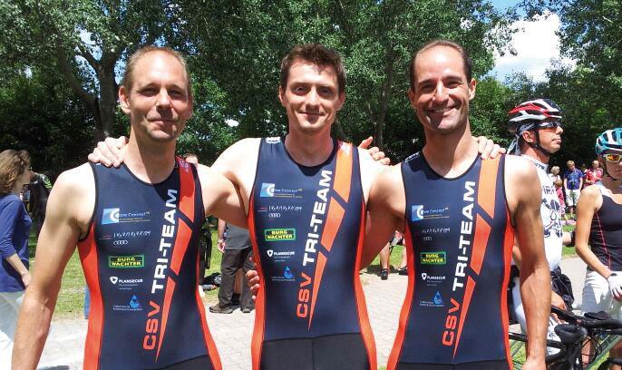 CSV Triathlon-Team mit Dowe Tri-Wear