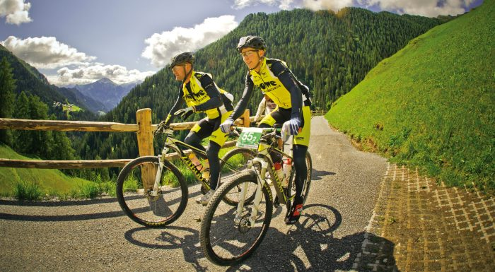 Cyclists wearing the Superform Wind Vest