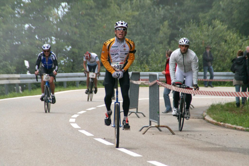 Superform Long-Sleeve Jersey cyclist on unicycle