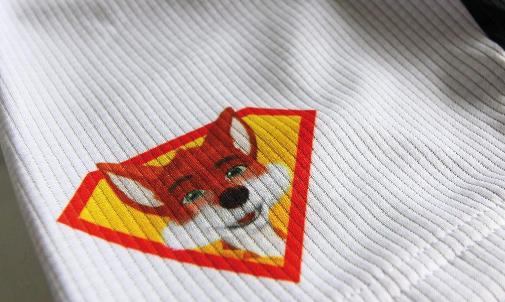 Radtrikot mit Fuchs-Aufdruck