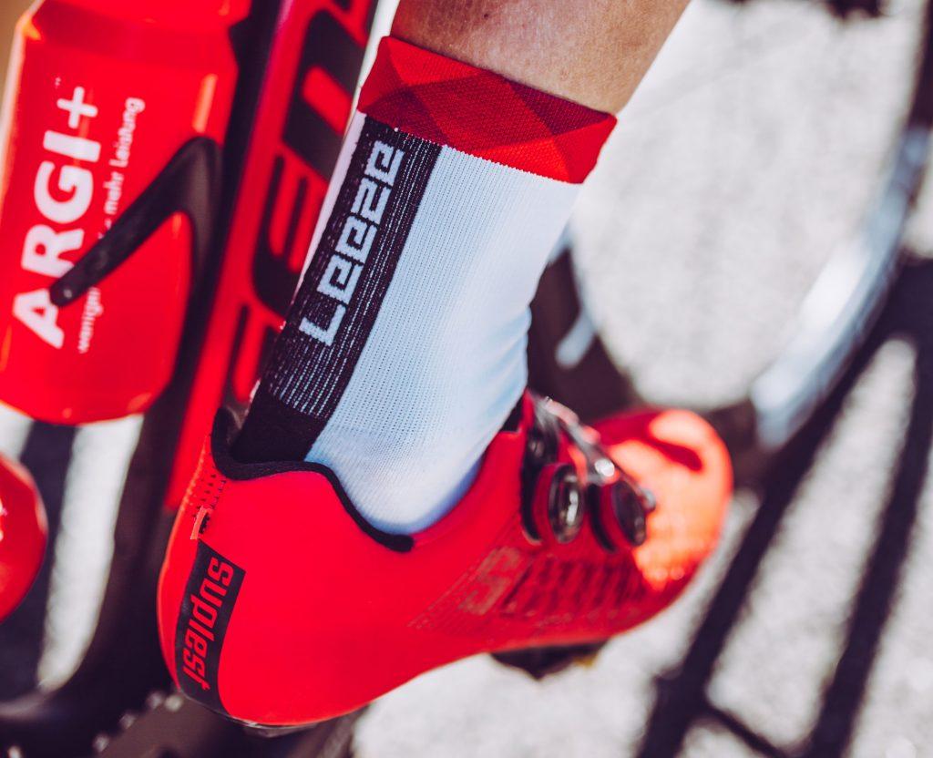 Radsportsocken vom Team Leeze - Dowe Sportswear