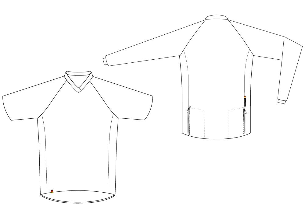 MTB | Enduro | DH-Shirt Schnittbild