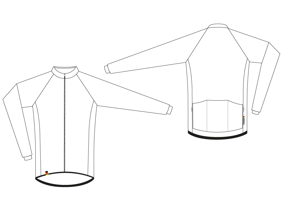 Long-Sleeve Jersey Sectional View