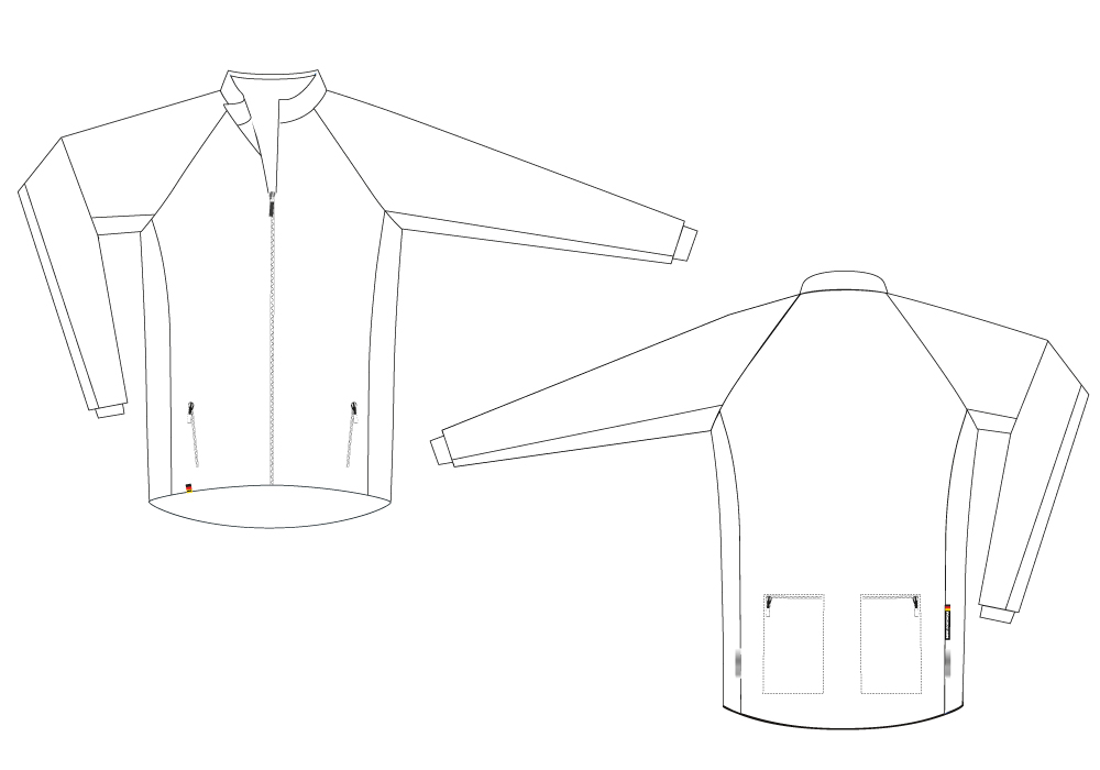Wind Jacket SuperForm Sectional View