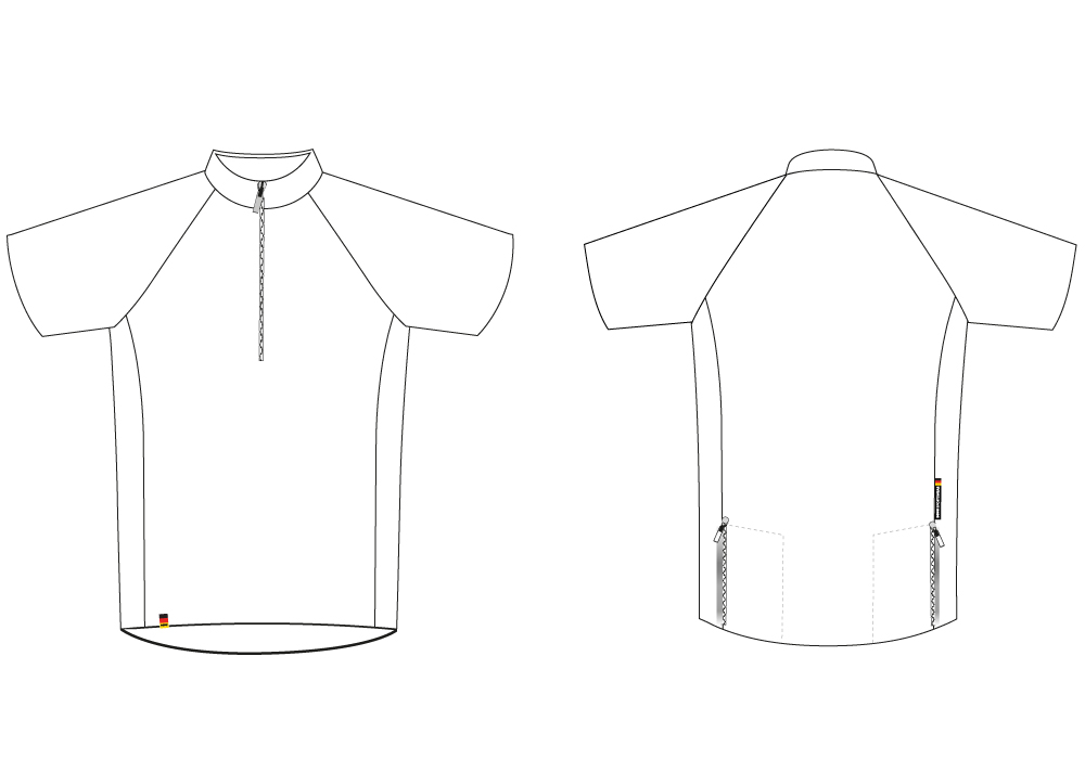 Bike Shirt for MTB & Leisure Cyclists Sectional View