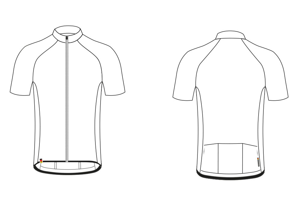 SuperForm Race Short-Sleeve Jersey Sectional View