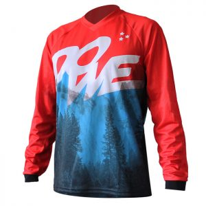 "DOWE Sportswear MTB/Enduro Shirt Langarm ""Blue Mountain"""
