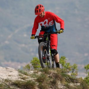 Mountain biker with Dowe short