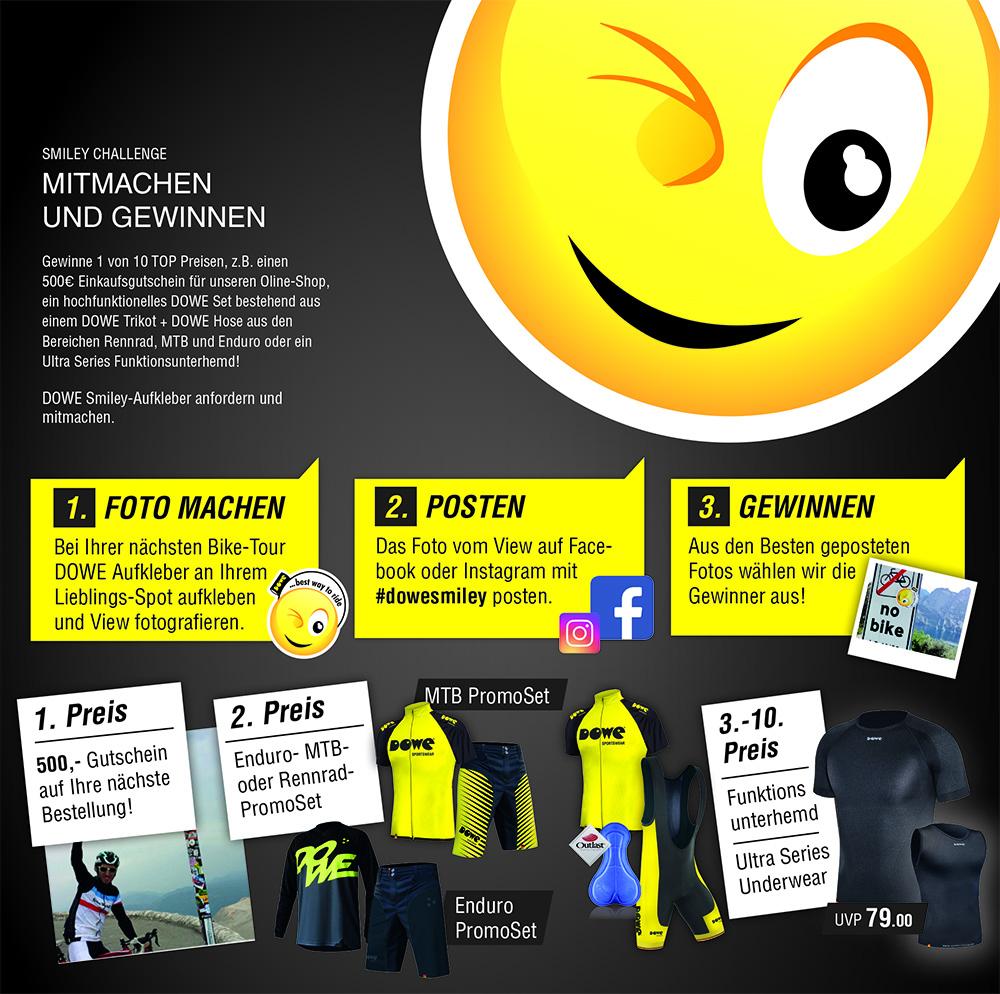 Smiley-Gewinnspiel Anleitung als Schaubild