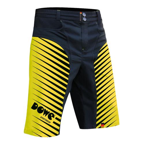"""DOWE Sportswear Race/Allround Bikeshort """"Yellow"""""""