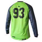 "MTB / Enduro Long-Sleeve Jersey ""Laser"" back side"