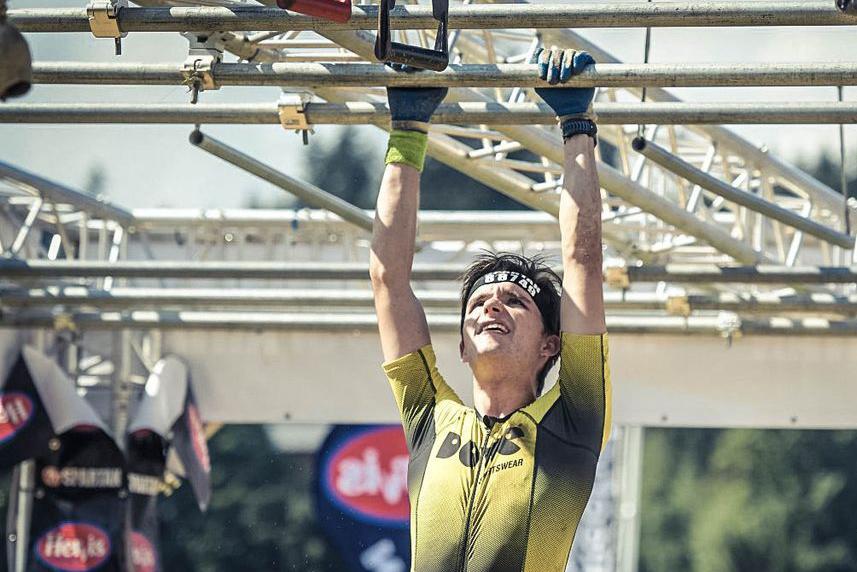 Athlete Frank Knupfer climbing