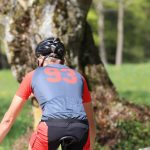 Cyclist with DOWE Sportswear Carbon Jersey - back