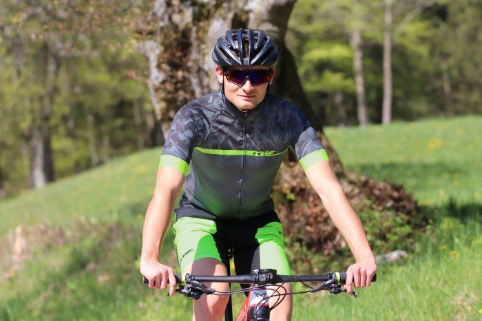 "DOWE Sportswear Carbon Pro Radtrikot ""Lime"" Mountainbike-Radler"