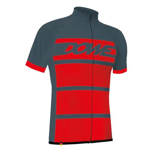 """DOWE Sportswear Carbon Pro Radtrikot """"Fire"""" Front"""