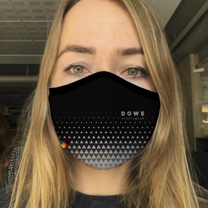 Dowe Sportswear Mundschutz Black-Grey