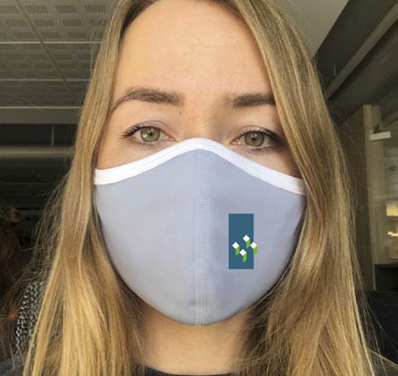 Hellgrauer Community-Mask-Mundschutz von DOWE Sportswear