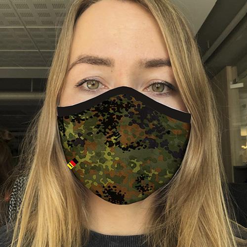Premium Community Mask - Flecktarn grün