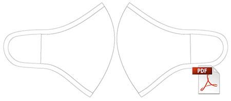 DOWE Face-Mask Schnittbild mit PDF-Icon