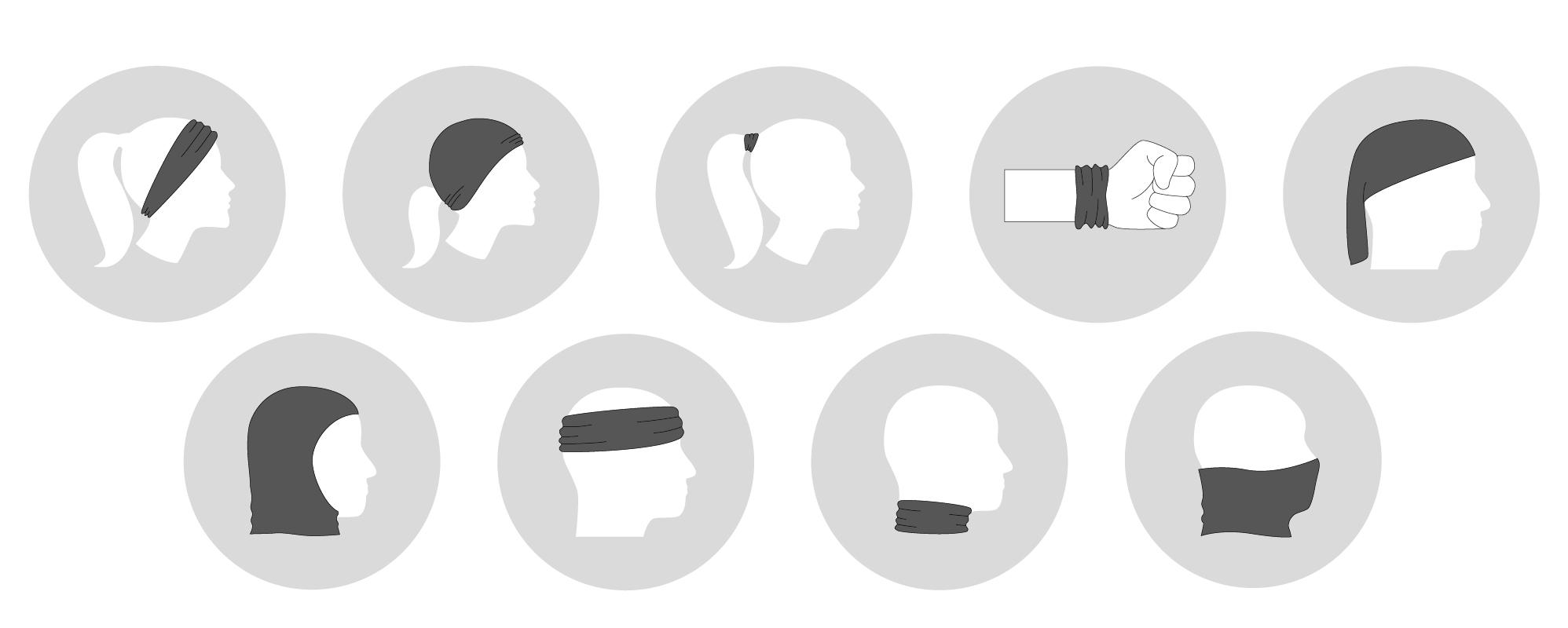 Anwendungsmöglichkeiten des Schlauchtuches