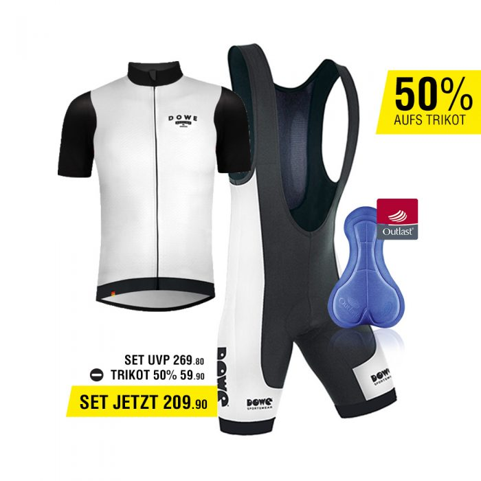 DOWE Set-Angebot für Road Bike: Bib Short und Trikot für 209,90 Euro