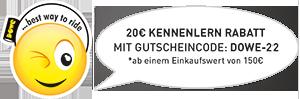 20€ Willkommensrabatt mit Gutscheincode: DOWE-20