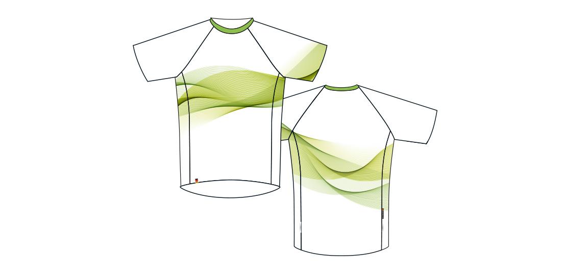 Dowe Sportswear - Designvorlage für Trikots - weiß-grün
