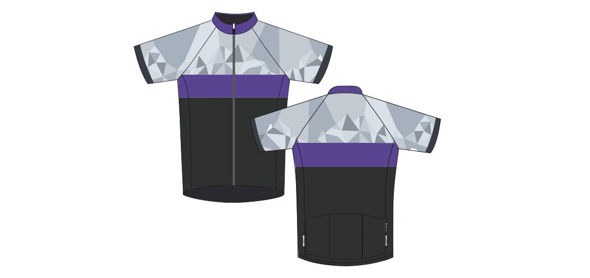 Dowe Sportswear - Designvorlage für Trikots - grau-blau