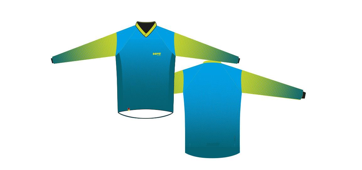 Dowe Sportswear - Designvorlage für Jerseys - blau-grün
