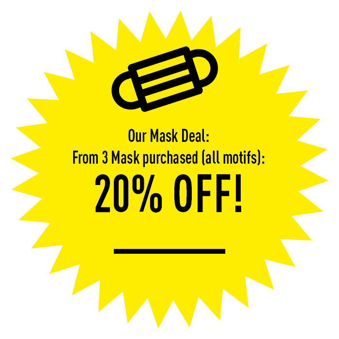 Buy three or more masks / bandanas (mix & match!) and get 20% off!