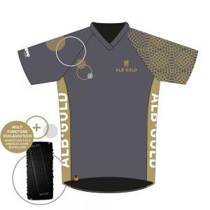 Albgold-Trophy Jersey plus gratis Multifunktions-Schlauchtuch von DOWE Sportswear