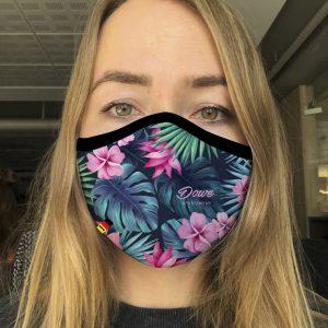 Dowe Sportswear Mundschutz Flower Black