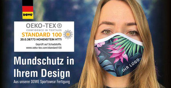 Community Masks in Ihrem Design - Werbung