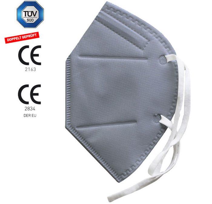 Dowe Sportswear FFP2 Maske grau