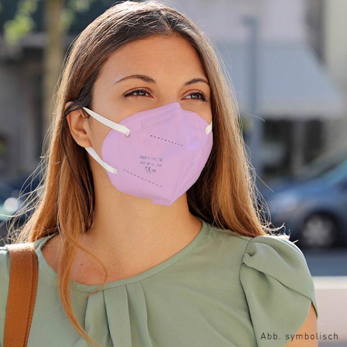 FFP2 Maske pink von DOWE